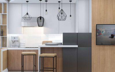 Дизайн квартиры студии 43 кв.м. в стиле минимализм