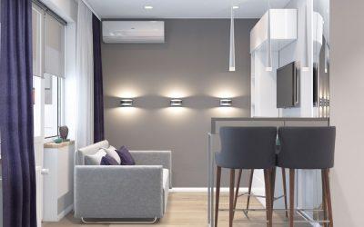 Дизайн квартиры студии 21 кв.м. в Сочи