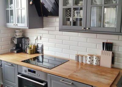 Кухонный фартук из белого кабанчика