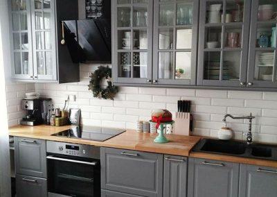 Раскладка плитки с кухней Икеа